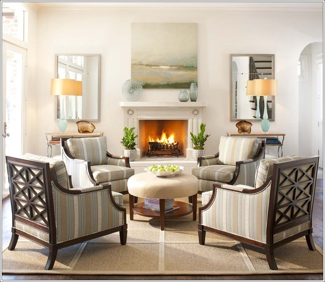 Create Magic With Four Chairs In Living Room Living Room Seating Fireplace Seating Living Room With Fireplace #traditional #living #room #chairs