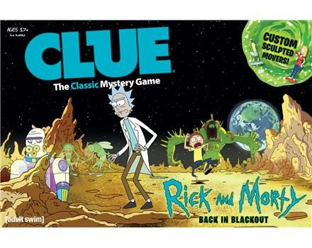 CLUE Rick and Morty for Card  Board Games GameStop Toys