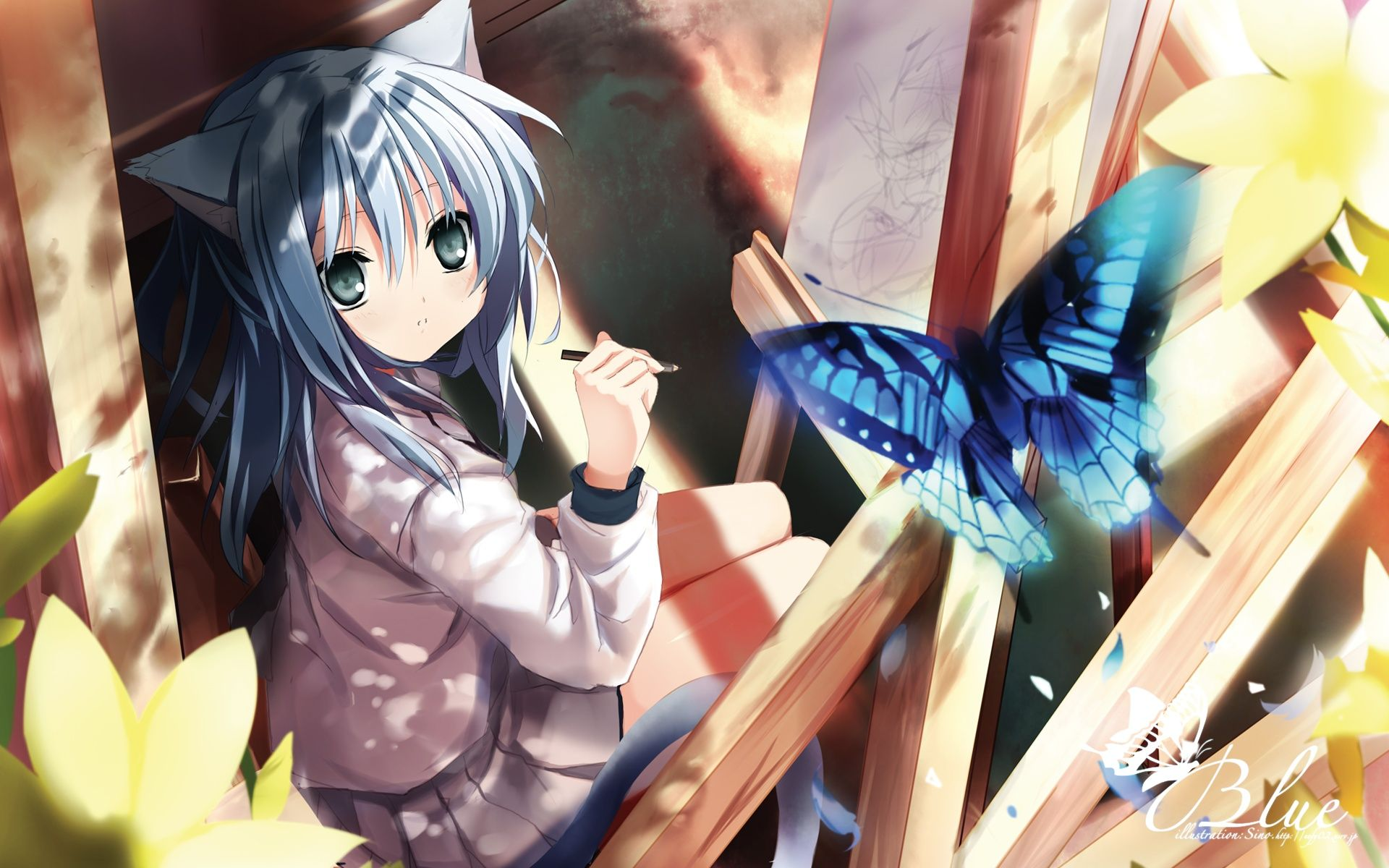 neko anime girl wallpaper anime neko girl wallpaper