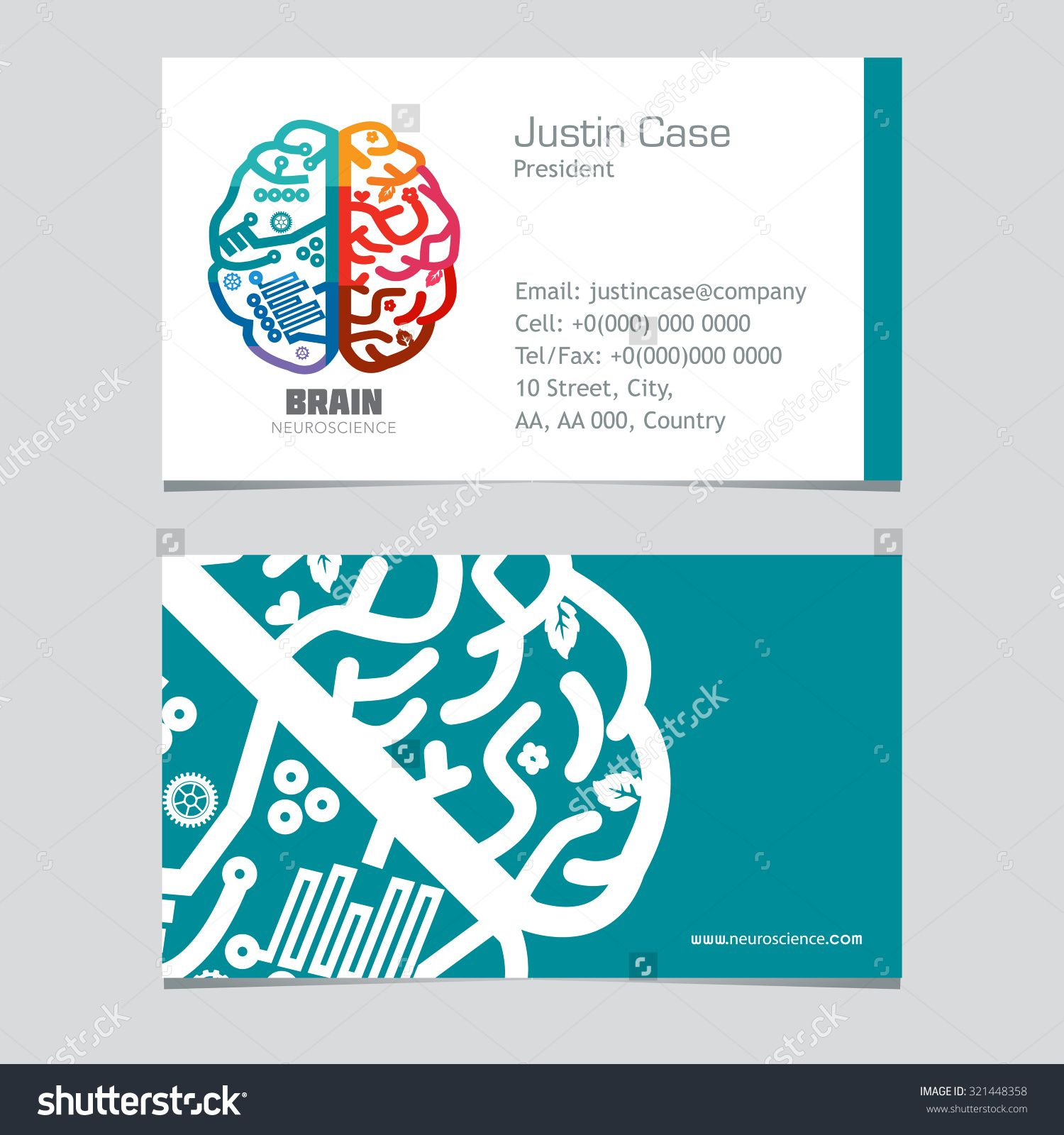 Brain Doctor Business Card Google Search Doctor Business Cards Google Business Card Psychology