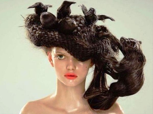 Funny Bird's Nest Hairstyle | Funnyho.com