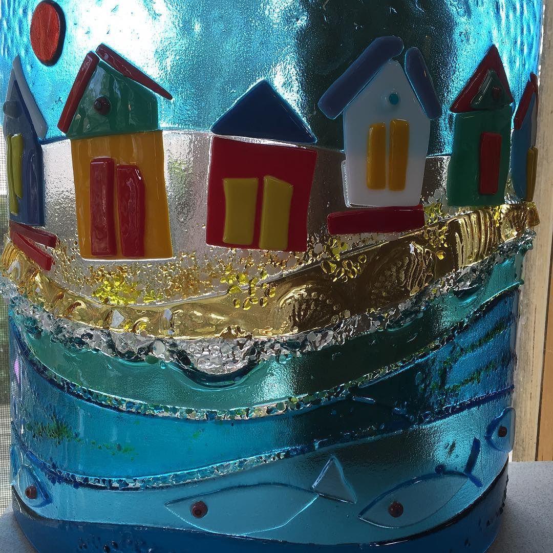It's the #morningtonpeninsula at its #arty #glassy best! #kilnfiredglass #fusedglassart  #original #iconic #artistinresidence #barbaratipper @tamandamai in the #pointlonsdale studio of #davidhobday by barbaratipper http://ift.tt/1EBJopQ