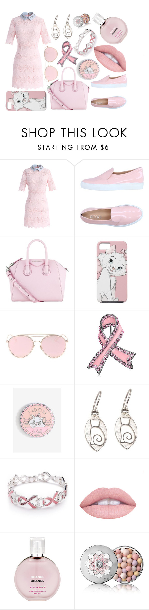 """Crazy pink cat lady"" by london-lo on Polyvore featuring Chicwish, Rodo, Givenchy, LMNT, Bling Jewelry, NOVICA, Napier, L.A. Girl, Chanel and Guerlain"