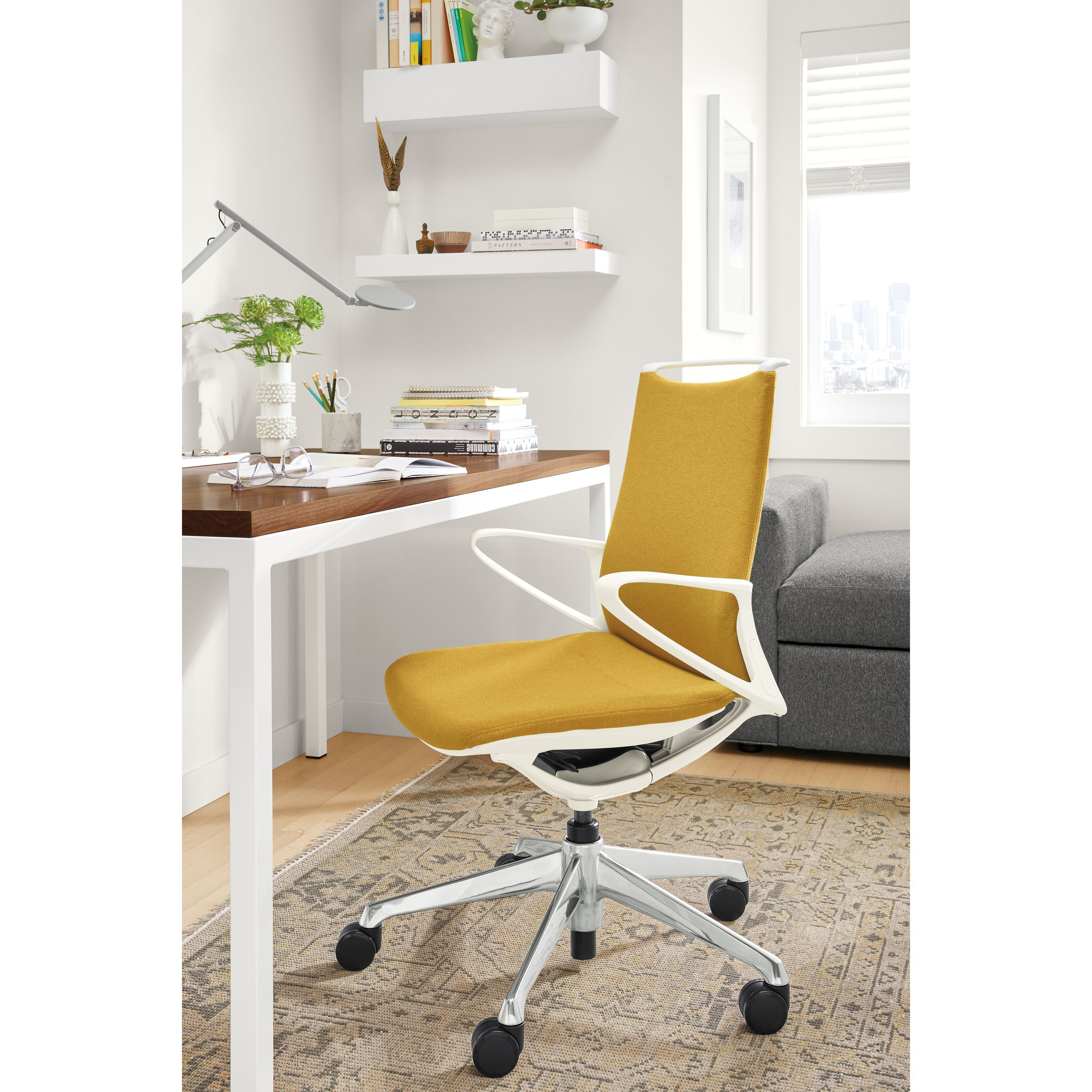 Plimode Office Chair in White - Modern Office Chairs & Task Chairs