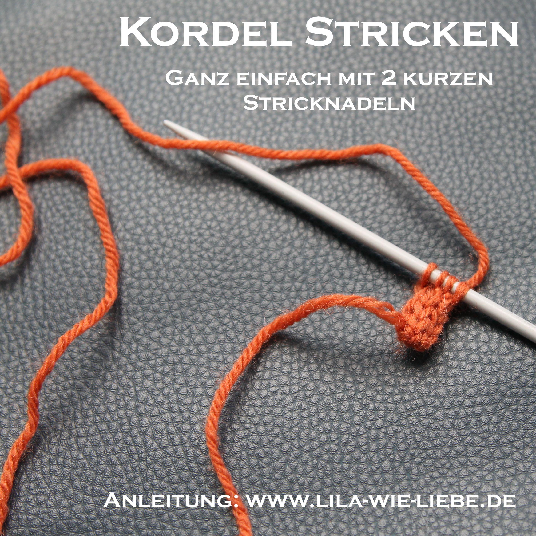 Photo of Kordel stricken (mit 2 kurzen Nadeln) – Anleitung – Lila wie Liebe