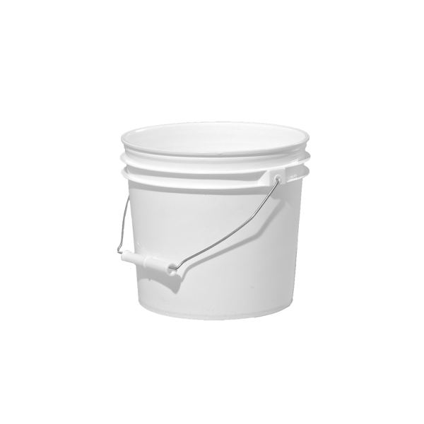 1 Gallon White Plastic Round Open Head Pail W Metal Bail Illing Plastic Pail Pail Gallon