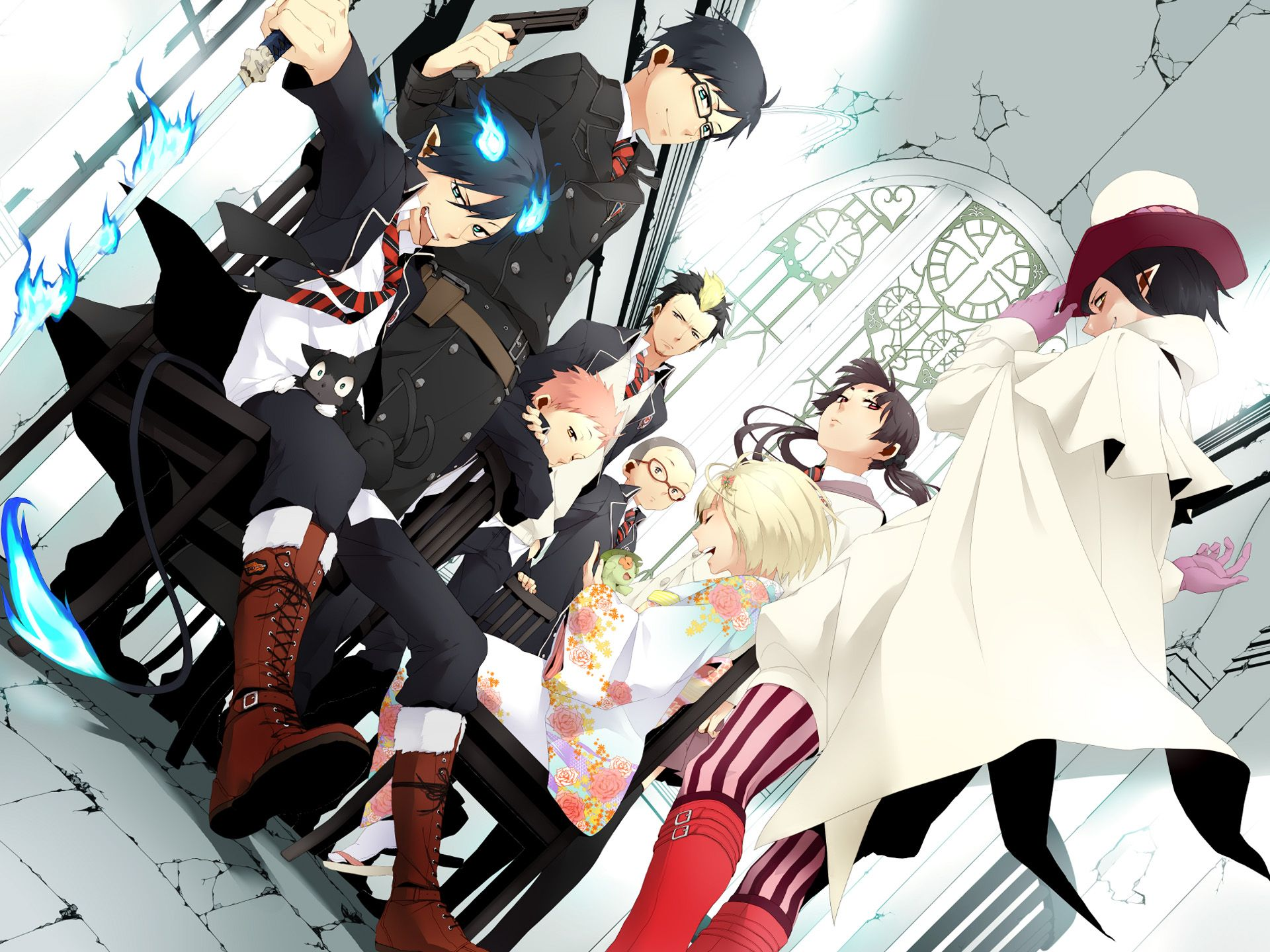 Blue Exorcist Everybodys Just Chilling Out Together