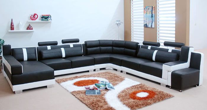 modern sectional sofas white - Google Search : black and white sectionals - Sectionals, Sofas & Couches