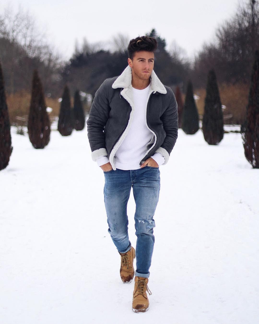 красиво одеваться мужчине зимой фото