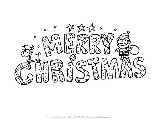 Merry Christmas Coloring Pages View And Print Your Merry