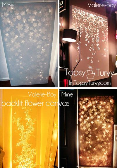Lit up canvas wall decor- Elmers look for less | Ashlee Marie | ToDo ...