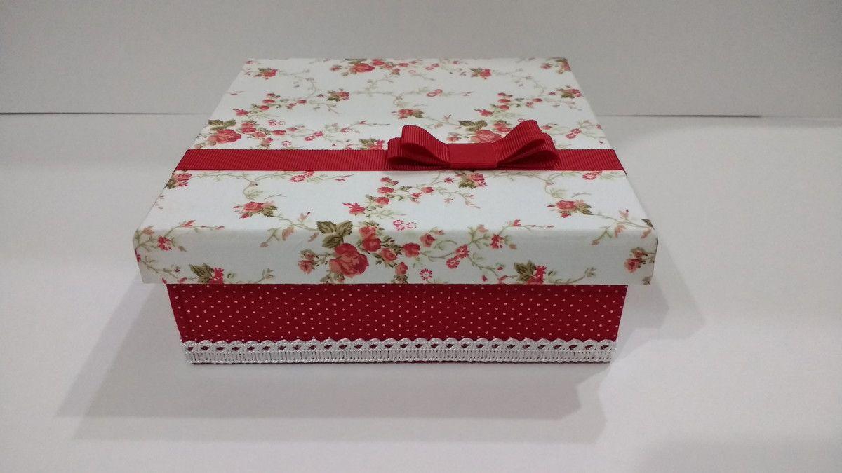 Caixa Em Mdf Forrada Com Tecido Ideal Para Colocar Aquele Presente