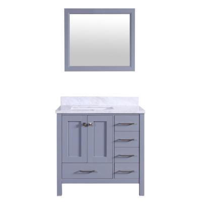 Eviva Shaker 36 In W X 22 In D X 34 In H Vanity In Grey With