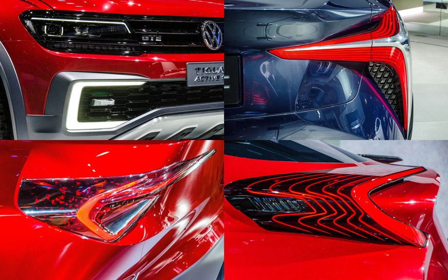Always a crystal ball for U.S. car culture, the Detroit Auto Show reveals what color accents and door handle displays to expect on the roads ahead