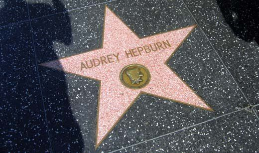 Audrey Hepburn star @ Walk of Fame