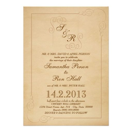 Storybook Monogram Invitation