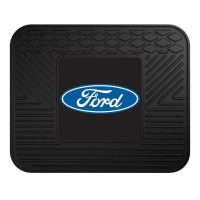 Fanmats Ford Ford Oval 14 In X 17 In Black Utility Car Mat Car