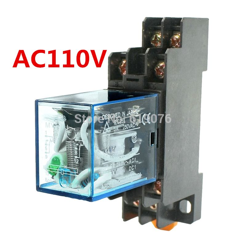 My2nj Model Dpdt Ac Dc 110v Coil 8 Pin 35mm Din Rail Power Relay Socket Affiliate Relay Cool Things To Buy Electrical Equipment