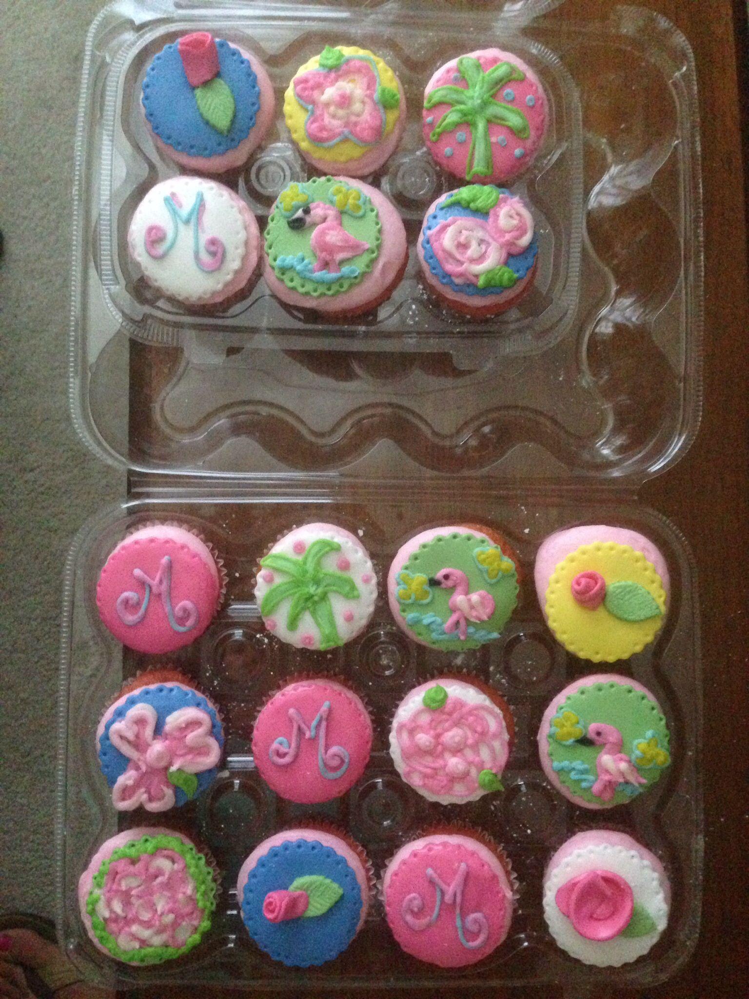 #LillyPulitzerCupcakes www.facebook.com/CandyLaneCakes #candylanecakes