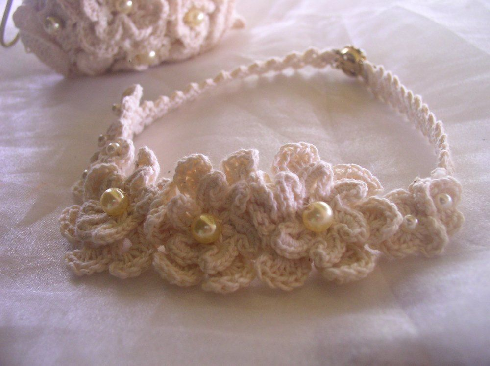 Cotton Lover's Wedding Necklace. Free Pattern.