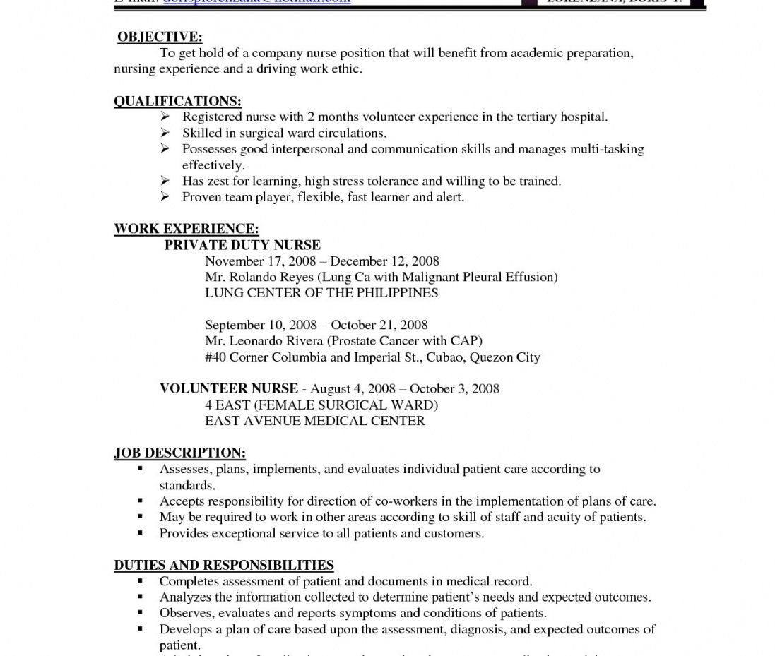 Bsc Nursing Resume Format Free Download Invoice For Experienced