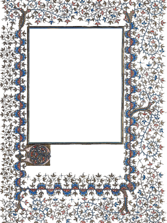 Medieval illumination - Frame png 04 by MontvalentStock.deviantart.com