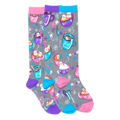 Smelly Hot Chocolate Knee High Socks #Christmas #Winter #FunkySocks
