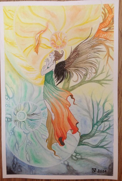 Song of Angel - Trieu Vo - Paintings & Prints Fantasy & Mythology Magical… | ArtPal thumbnail