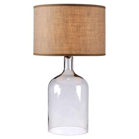 Capri Table Lamp Table Lamp Clear Glass Table Lamp Glass Table Lamp