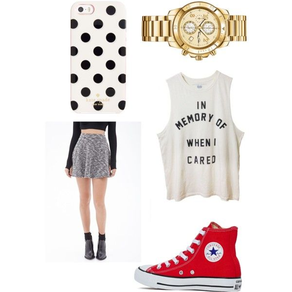 Untitled #18 by fabfive1999 on Polyvore featuring polyvore, fashion, style, Forever 21, Converse, Kate Spade and Urban Outfitters