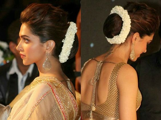Hairstyles Creative Buns On Bollywood Celebs For Your Wedding Day Deepika Hairstyles Hair Puff Bollywood Hairstyles