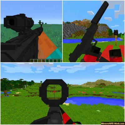 60 Modern Guns Minecraft Pe Mod 1 13 0 2 1 12 0 28 Ios Android Armor Minecraft How To Play Minecraft Minecraft