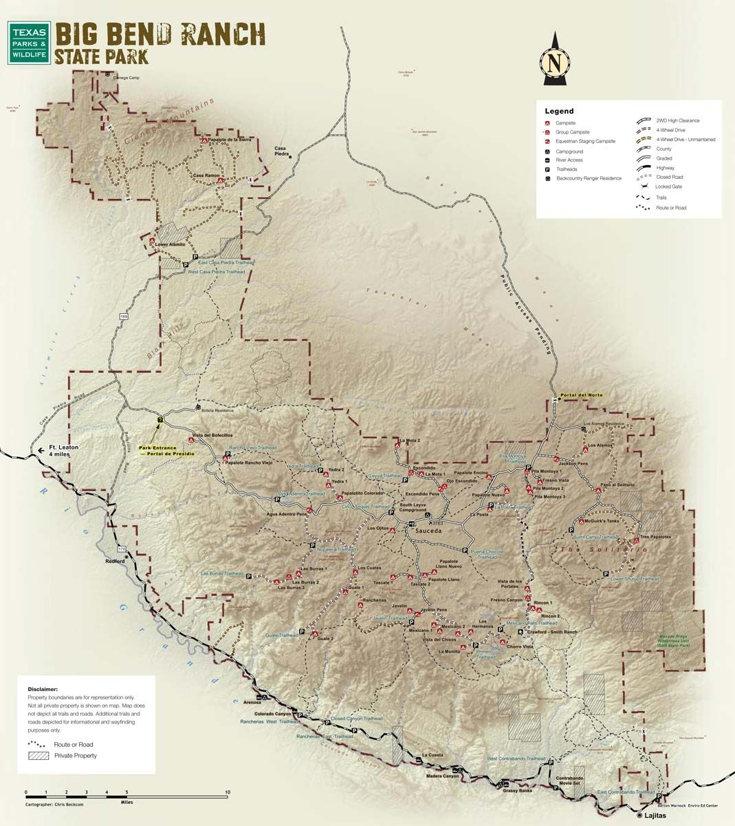 Big Bend Ranch State Park Texas Httpwwwtpwdstatetxus - Big bend national park map us