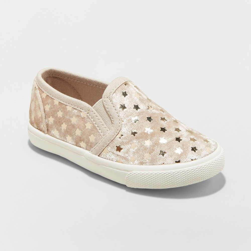 b5988f3ebdc2 Your sweet darling will shine bright in these Madigan Slip-On Glitter  Sneakers from Cat and Jack. Featuring a slip-on design to quickly get them  on and off ...