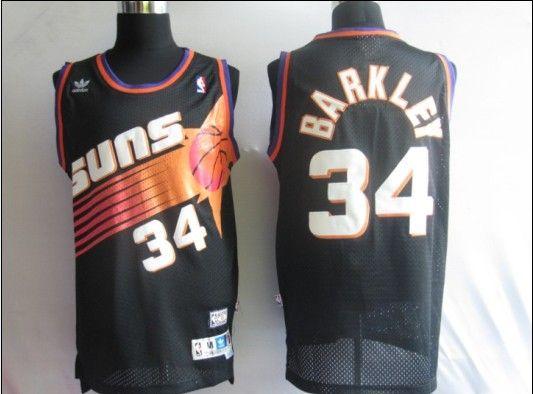 phoenix suns 34 barkley throwback black jersey 29685