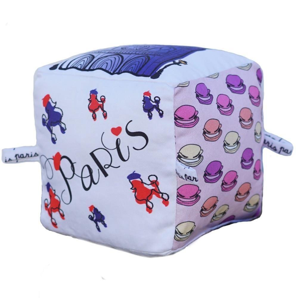 Soft Blocks Baby Blocks Paris Printing On Fabric
