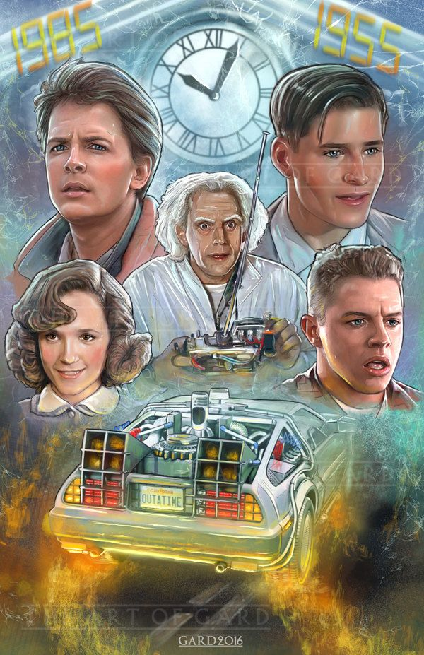 Back To The Future Collage 11X17 Art Print