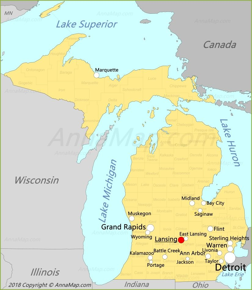 Michigan Map Map Of Michigan Detroit Lakes United States Map
