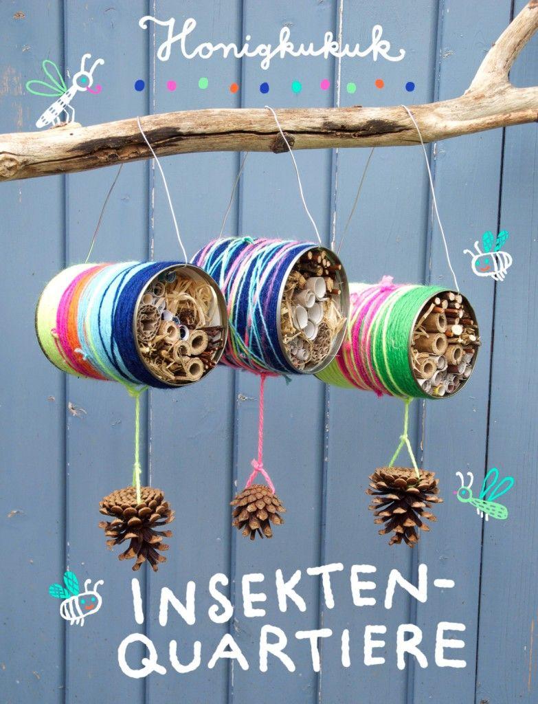 Insektenquartiere aus blechdosen outdoors basteln basteln mit kindern recycling basteln - Blechdosen basteln ...