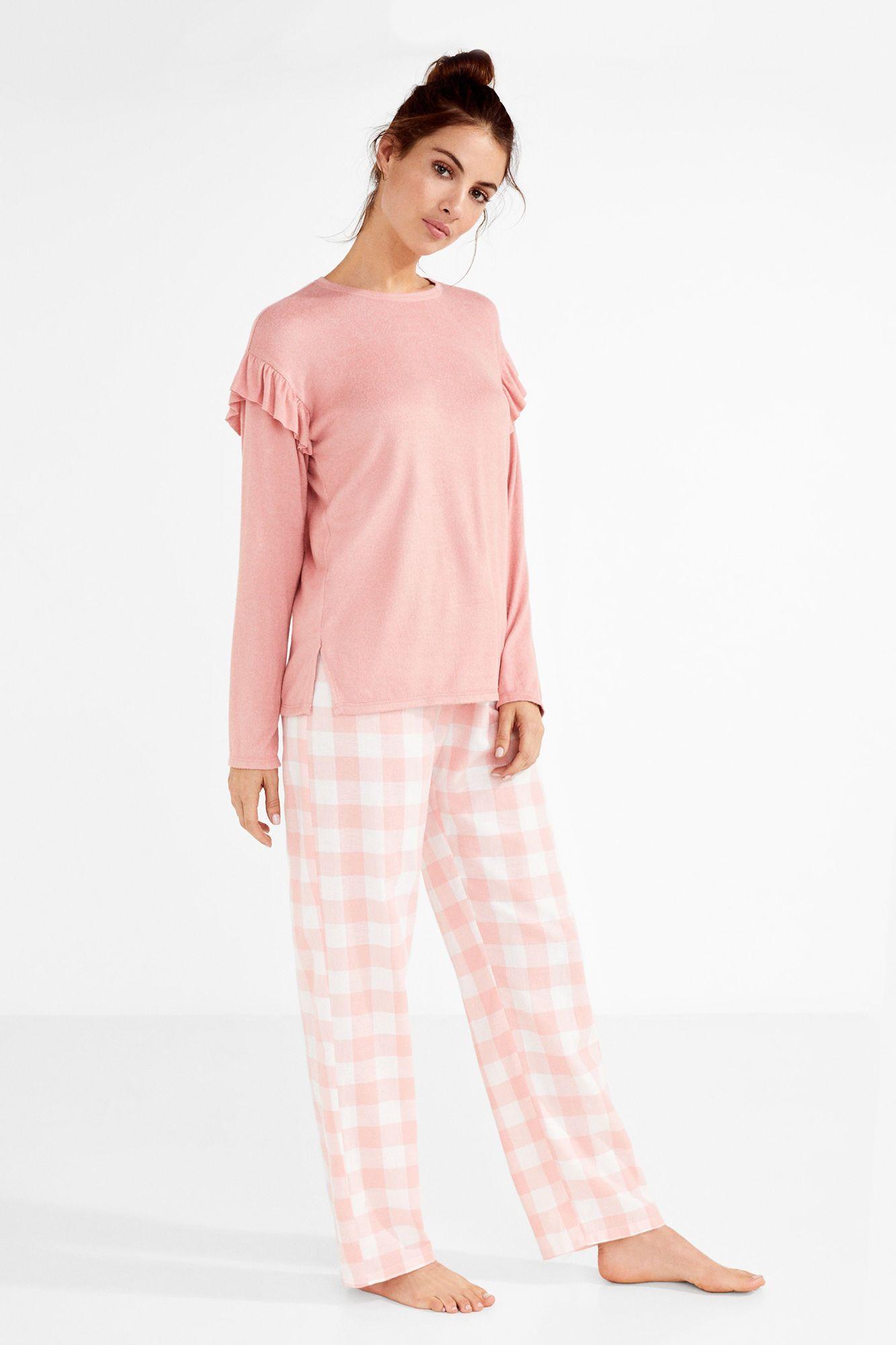 Ladies Pyjama Sets Embroidered Short Sleeve Crew Neck Plain Button Nightwear PJs