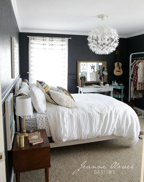 5 stylish teen bedrooms how to decorate your first apartment pinterest. Black Bedroom Furniture Sets. Home Design Ideas