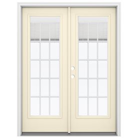 Reliabilt 59.5-In Blinds Between The Glass Bisque Fiberglass French In