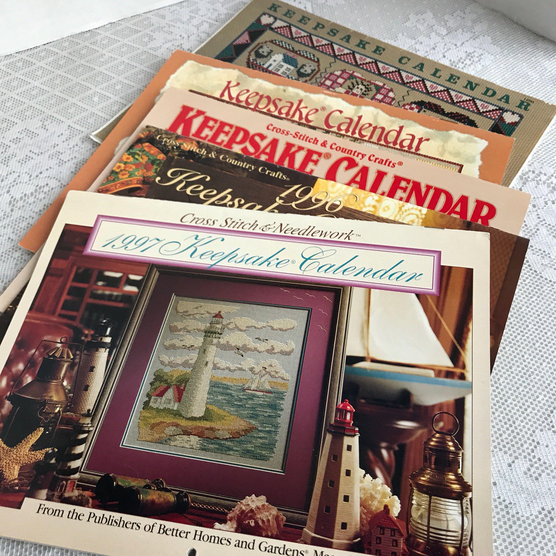 Vintage Cross Stitch Keepsake Calendars Cross Stitch And