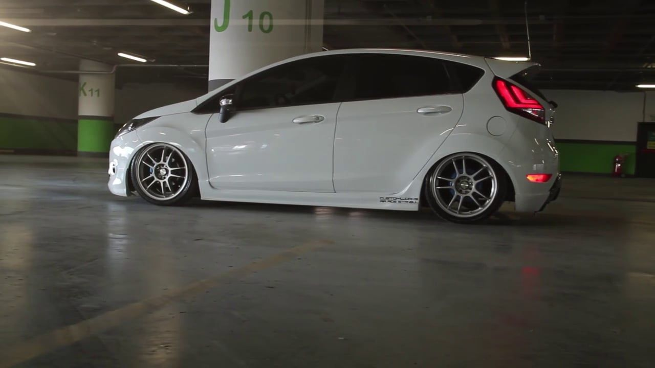 Stanced red ford fiesta by ericko pandu motorvehicles pinterest ford cars and slammed cars