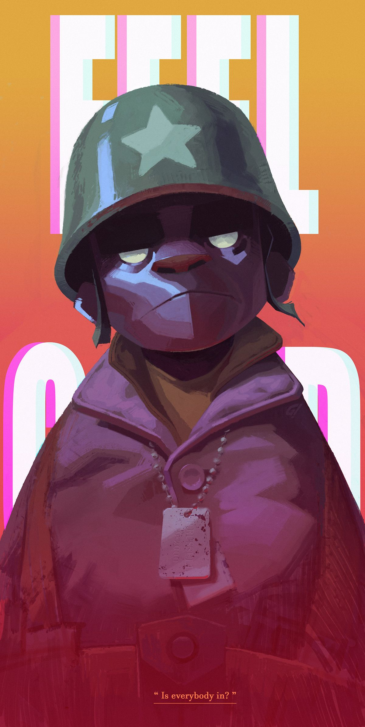 FEEL GOOD on Behance in 2020 Gorillaz fan art, Dream art