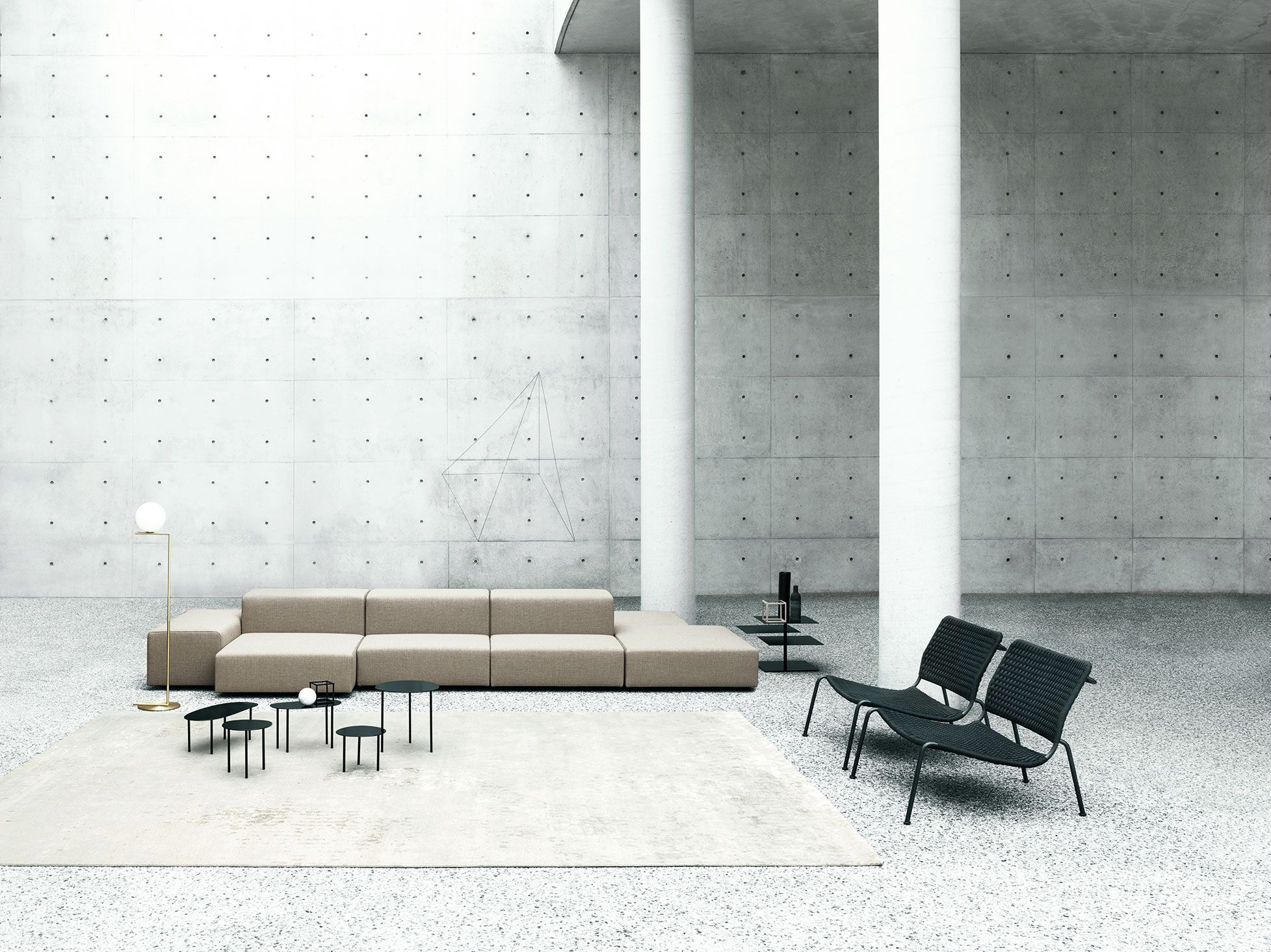 Extra Wall, Frog design Piero Lissoni, B3 low table design ...