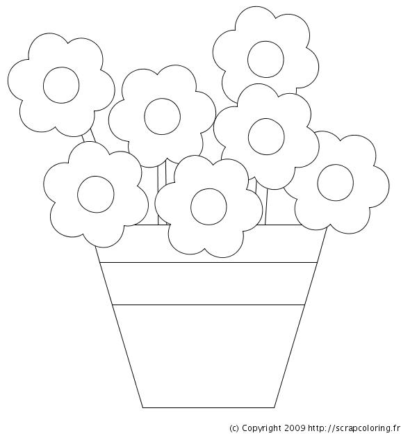 Image Pot De Fleur A Imprimer