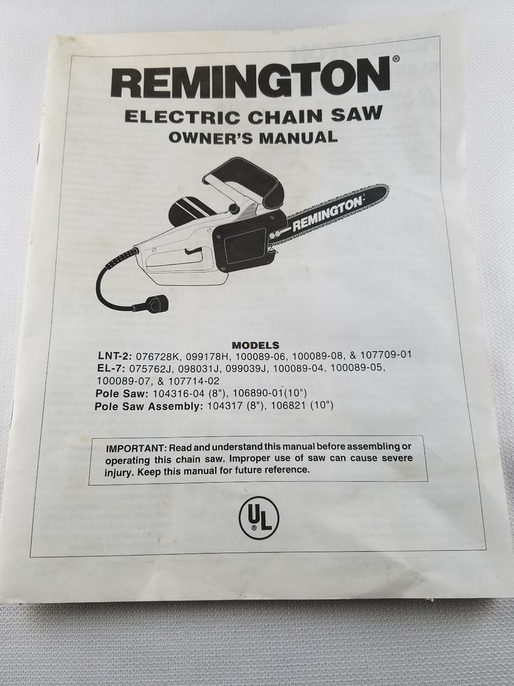 Details About Owners Operating Manual For Remington Electric