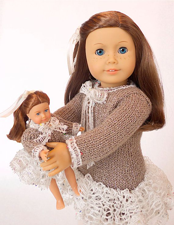 Doll clothes knitting pattern PDF for 18 inch von DBDollPatterns