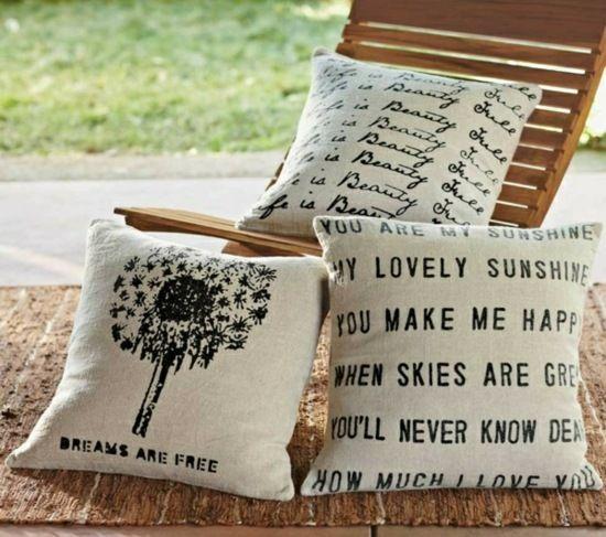 deko kissen selber n hen und beschriften anleitung und designs diy sewing cushions kissen. Black Bedroom Furniture Sets. Home Design Ideas